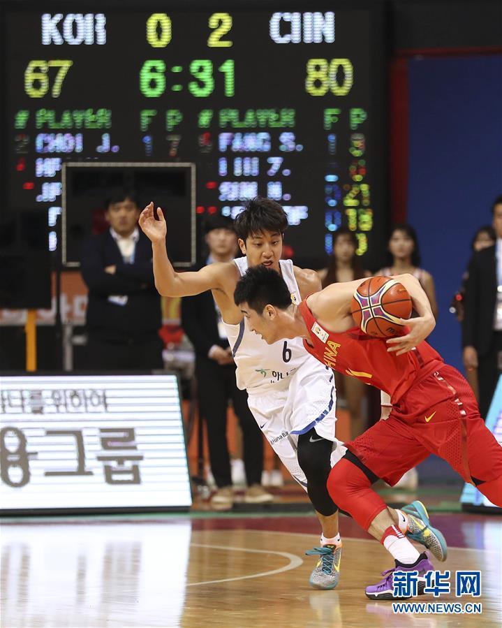 2019年男篮世界杯预选赛中国队客场战胜韩国
