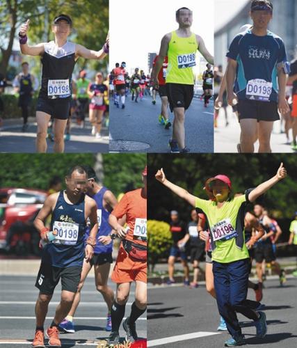网友们发现多位跑者在比赛中佩戴D0198号码布,网络截图。图片来源:新京报