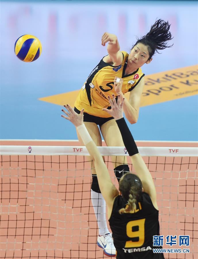 (体育)(5)排球——土耳其女排联赛:瓦基弗银行晋级决赛