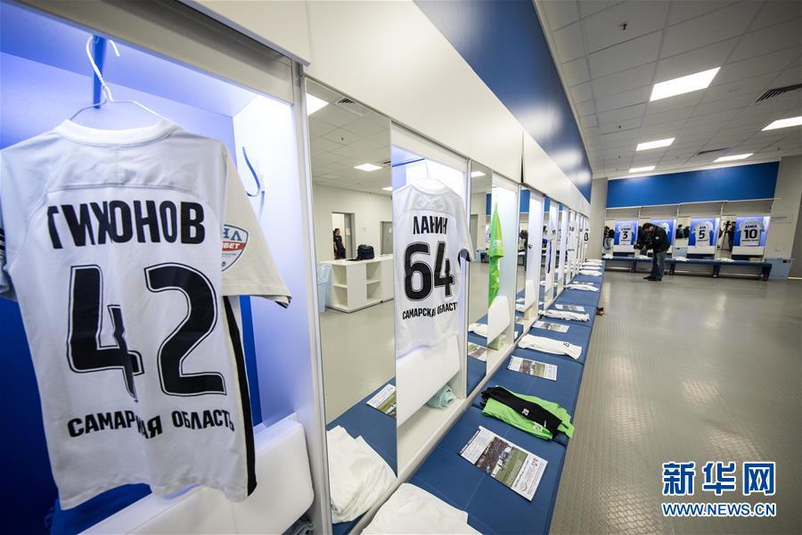(体育)(7)足球——2018俄罗斯世界杯:加里宁格勒体育场迎来首场测试赛