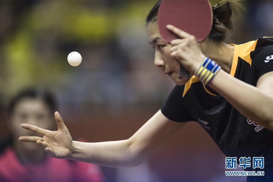 (体育)(2)乒乓球——中国队举行世乒赛热身赛