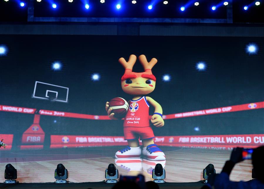 """(体育)(1)篮球——2019年篮球世界杯吉祥物""""梦之子""""正式亮相"""
