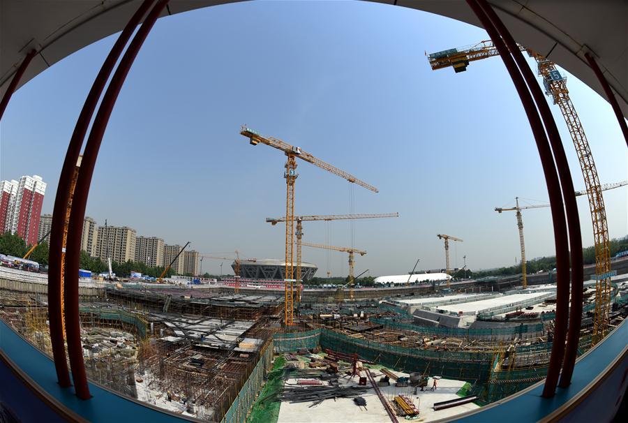 (体育)(3)北京冬奥场馆国家速滑馆工程全面进入地下施工阶段