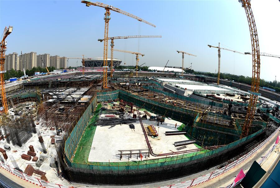(体育)(2)北京冬奥场馆国家速滑馆工程全面进入地下施工阶段
