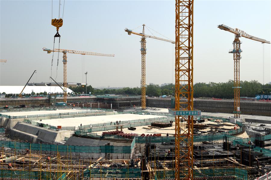 (体育)(1)北京冬奥场馆国家速滑馆工程全面进入地下施工阶段
