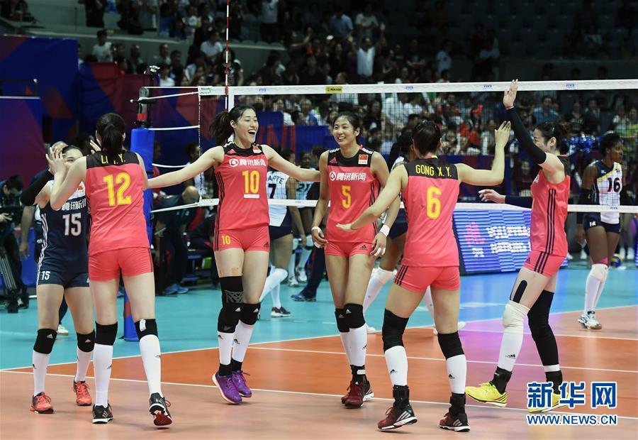 (体育)(1)排球——世界女排联赛:中国胜多米尼加