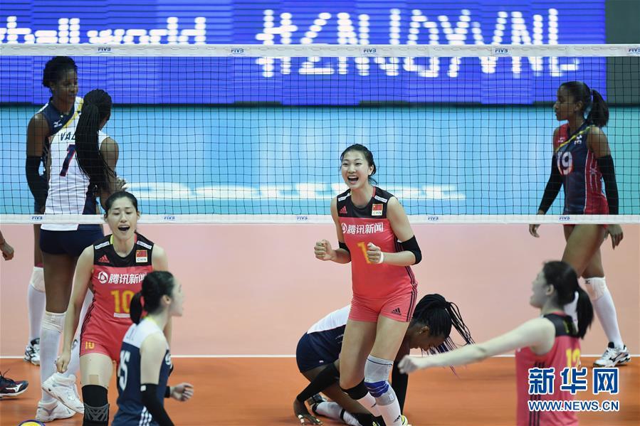 (体育)(4)排球——世界女排联赛:中国胜多米尼加