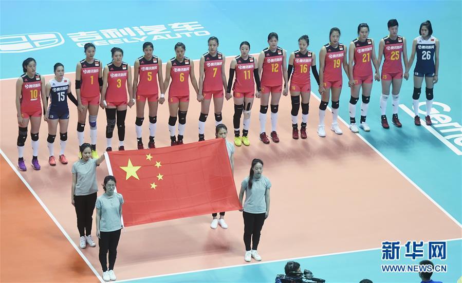 (体育)(8)排球——世界女排联赛:中国胜多米尼加