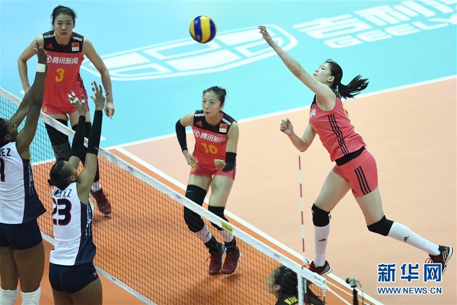(体育)(9)排球——世界女排联赛:中国胜多米尼加