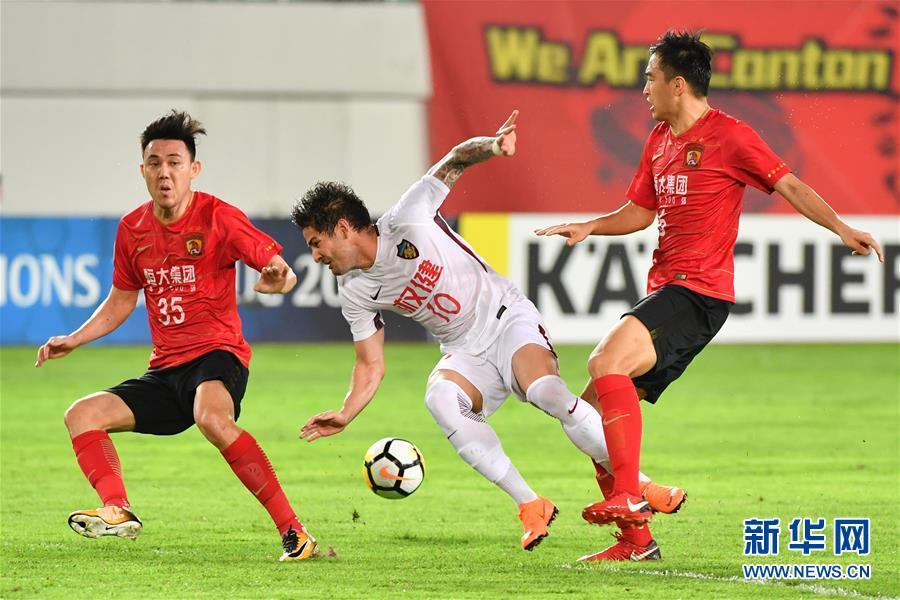 (体育)(7)足球——亚冠八分之一决赛:广州恒大对阵天津权健