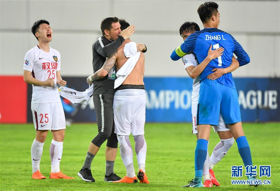 (体育)(12)足球——亚冠:天津权健淘汰广州恒大