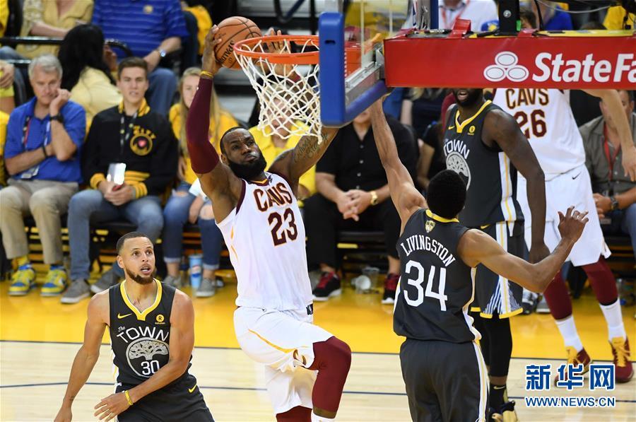 (体育)(2)篮球——NBA总决赛第二场:勇士胜骑士