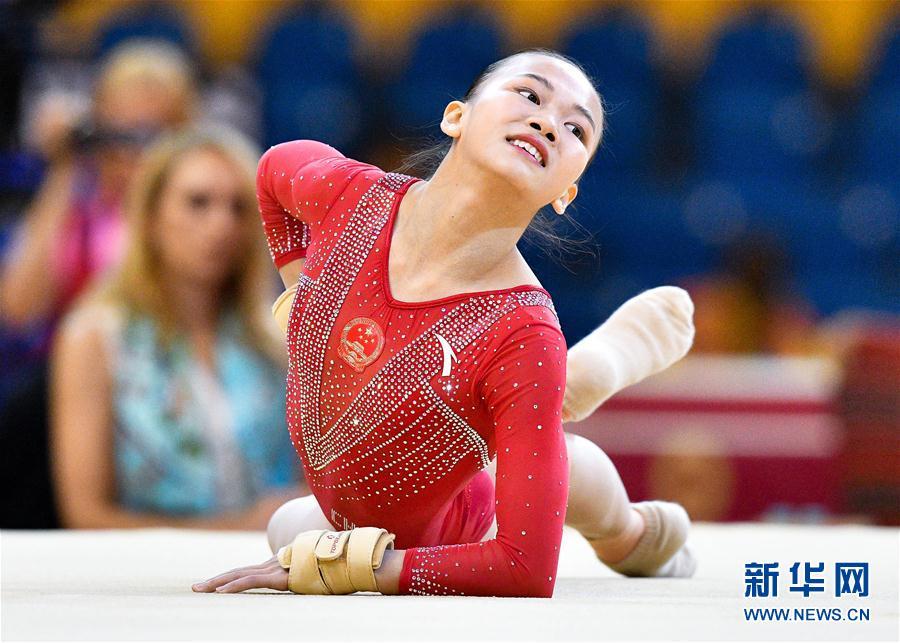 (体育)(2)体操——世锦赛:中国队获女子团体预赛第三名