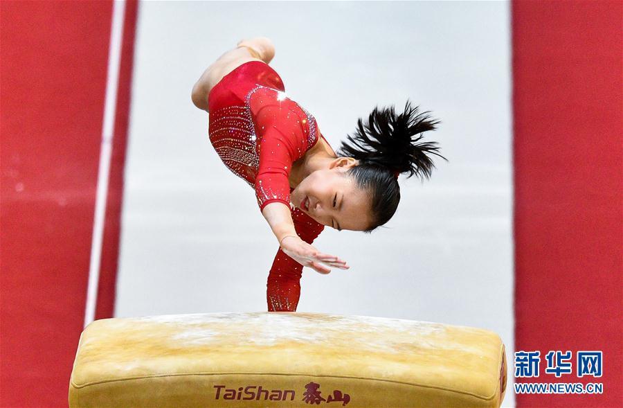 (体育)(3)体操——世锦赛:中国队获女子团体预赛第三名