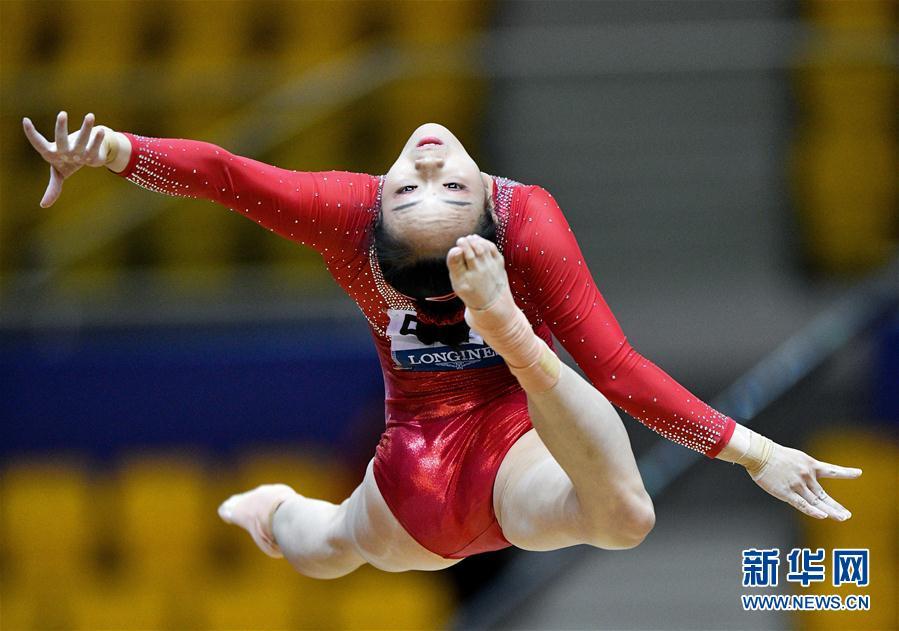 (体育)(6)体操——世锦赛:中国队获女子团体预赛第三名