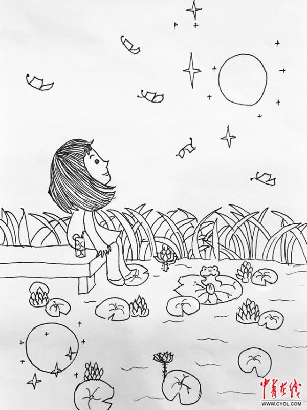 【我的中秋我的节】手绘漫画|吃月饼,赏月,团圆饭